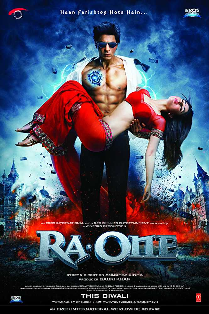 Ra One Movie Dialogues Poster Shah Rukh Khan and Kareena Kapoor