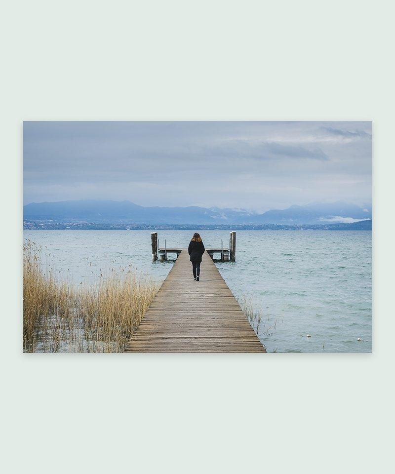 Lago di Garda - Itália   Foto Impressa - Meio Cheio