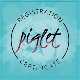 Meishan Piglet Registration Certificate