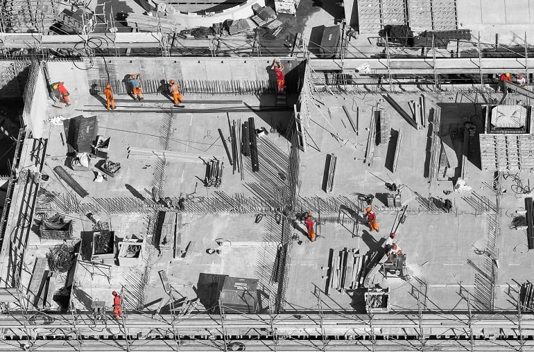 Baustelle Arbeiter