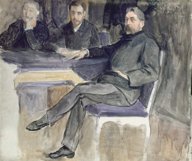 Dipinto che ritrae Stéphane Mallarmé e alcuni amici