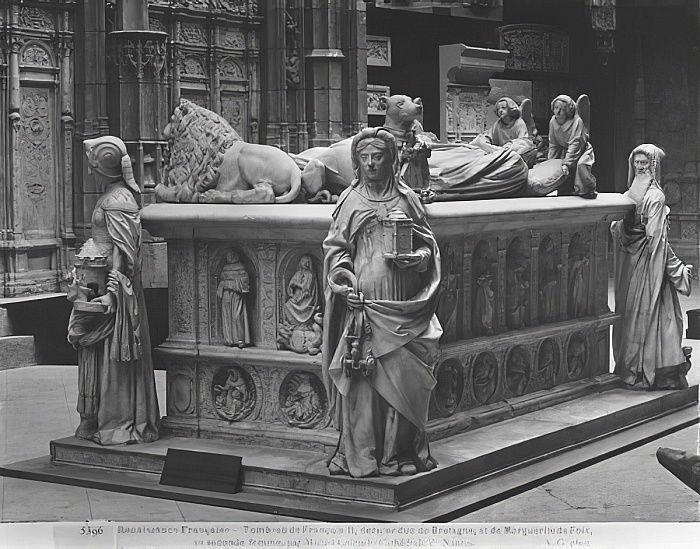 Cattedrale di Nantes, San Pietro e Paolo, Tomba di Francesco II, Duca di Bretagna e Margherita di Foix, 1502-07 (calco in gesso di marmo) da Michel Colombe
