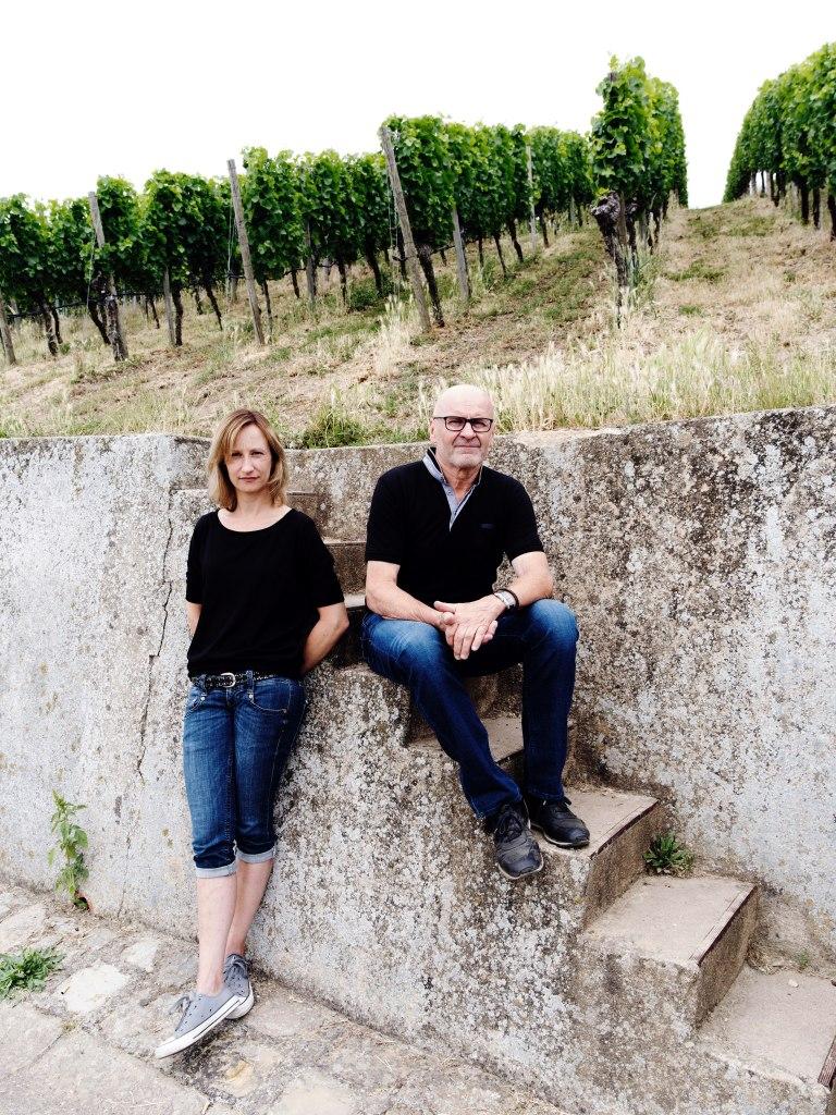 Die Winzer Sandra und Horst Sauer aus Escherndorf, fotografiert von Gerald von Foris
