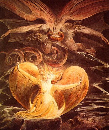 Der große Rote Drache und die Frau, mit der Sonne bekleidet