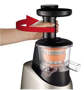 Licuadora de prensado en frío Moulinex Infiny Juice ZU255B piezas
