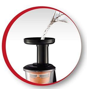 La limpieza es fácil en la licuadora de prensado en frío Moulinex Infiny Juice ZU255B