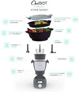 Robot de cocina Ikohs chefbot accesorios