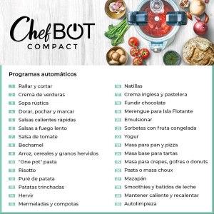 funciones Robot de cocina Ikohs chefbot