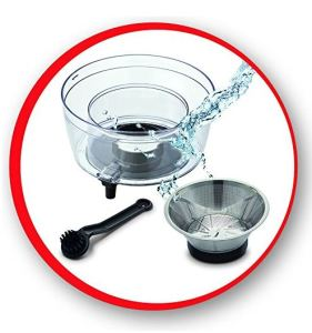 Licuadora Moulinex Juice Express JU550D10 fácil de limpiar