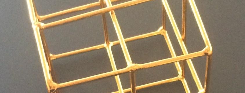 Bronze cube picture