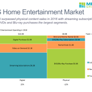 Marimekko chart of the U.S. Home Entertainment market in 2016