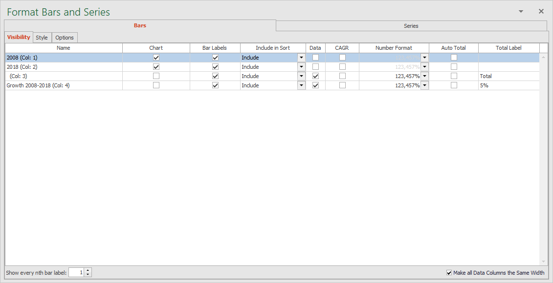 Add Data Column Total Labels