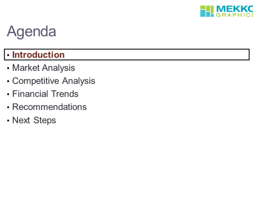 Agenda Slide Example