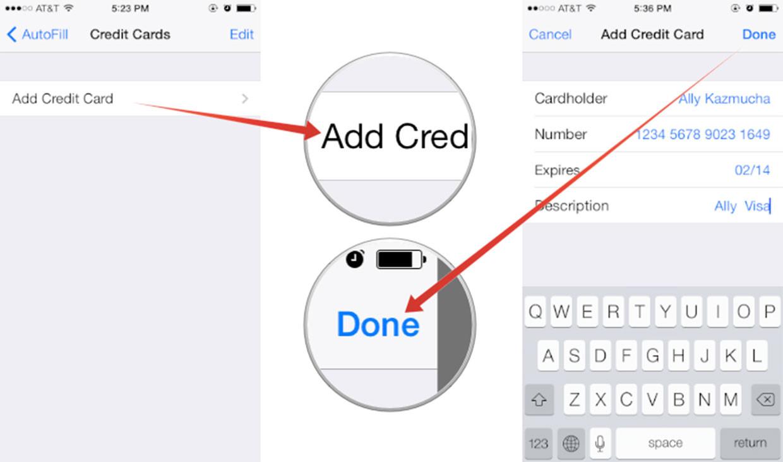 Portachiavi iCloud carte credito