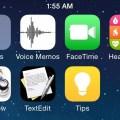 iOS 8 homescreen