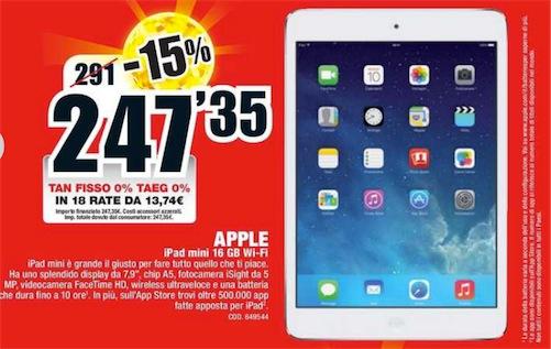 Offerte Ipad Mini Da Mediaworld Il 16gb Wifi A 247 35