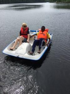 mela-trampbåt