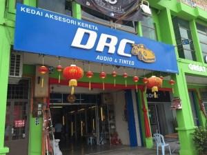 DRC audio tinted melaka shop