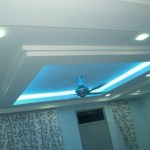 plaster ceiling with t5 light