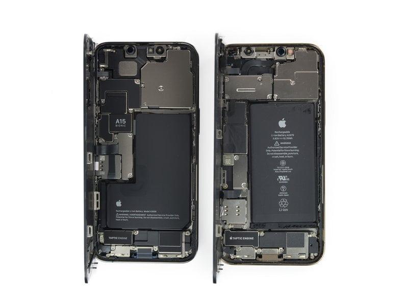L'interno dell'iPhone 13 Pro e dell'iPhone 13