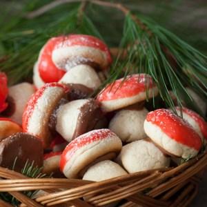 """Christmas Cookies #1: Russian Mushroom Cookies - """"Gribochky"""""""