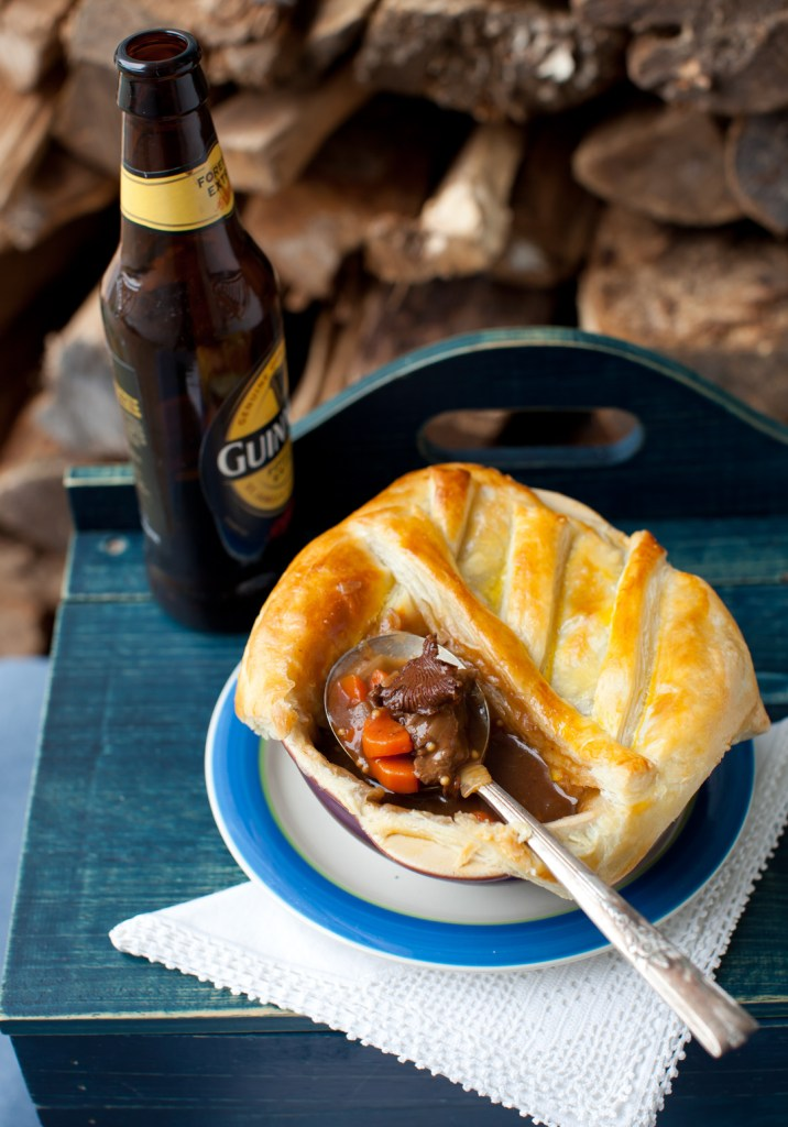 Beef and Guinness Pie with Chanterelle Mushrooms - Cooking ...