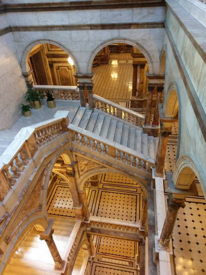 city-chambers-staircase, Glasgow, Scotland