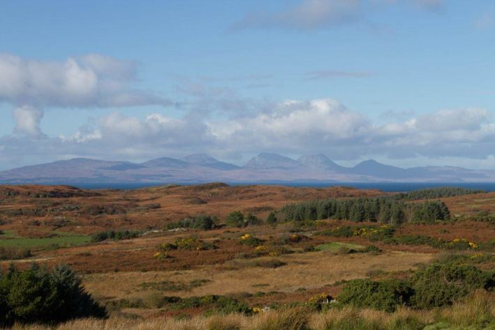 Views of the Paps of Jura from Gigha, Scotland