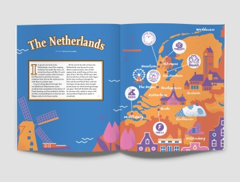 illustrated map of the netherlands