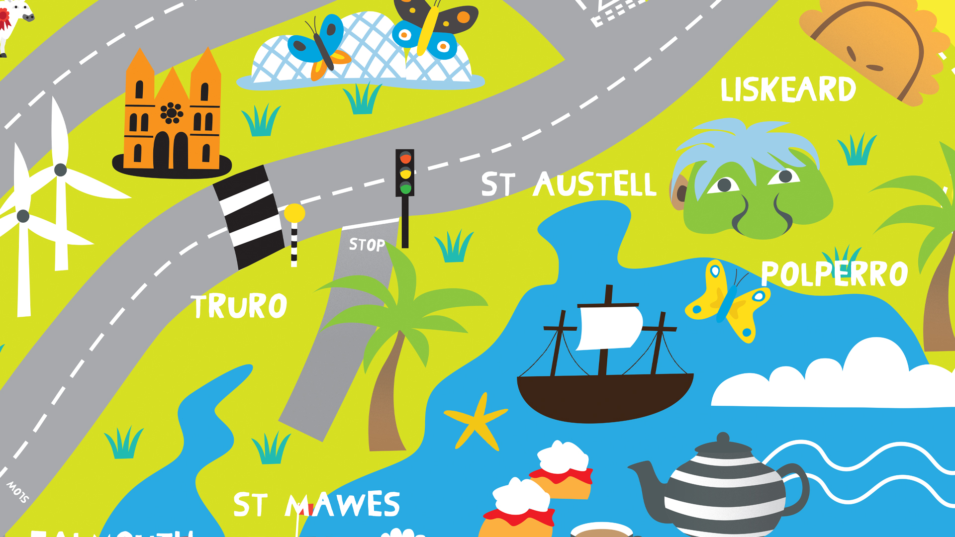 cornwall map car hippo mat melanie chadwick