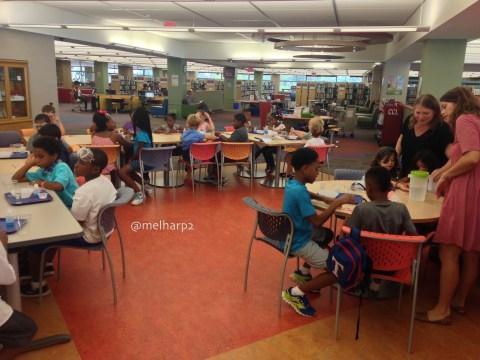 boys at library