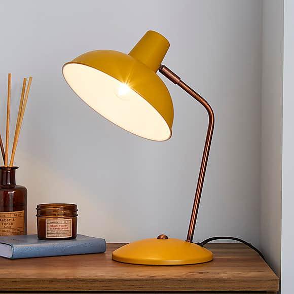 Ochre desk lamp yellow