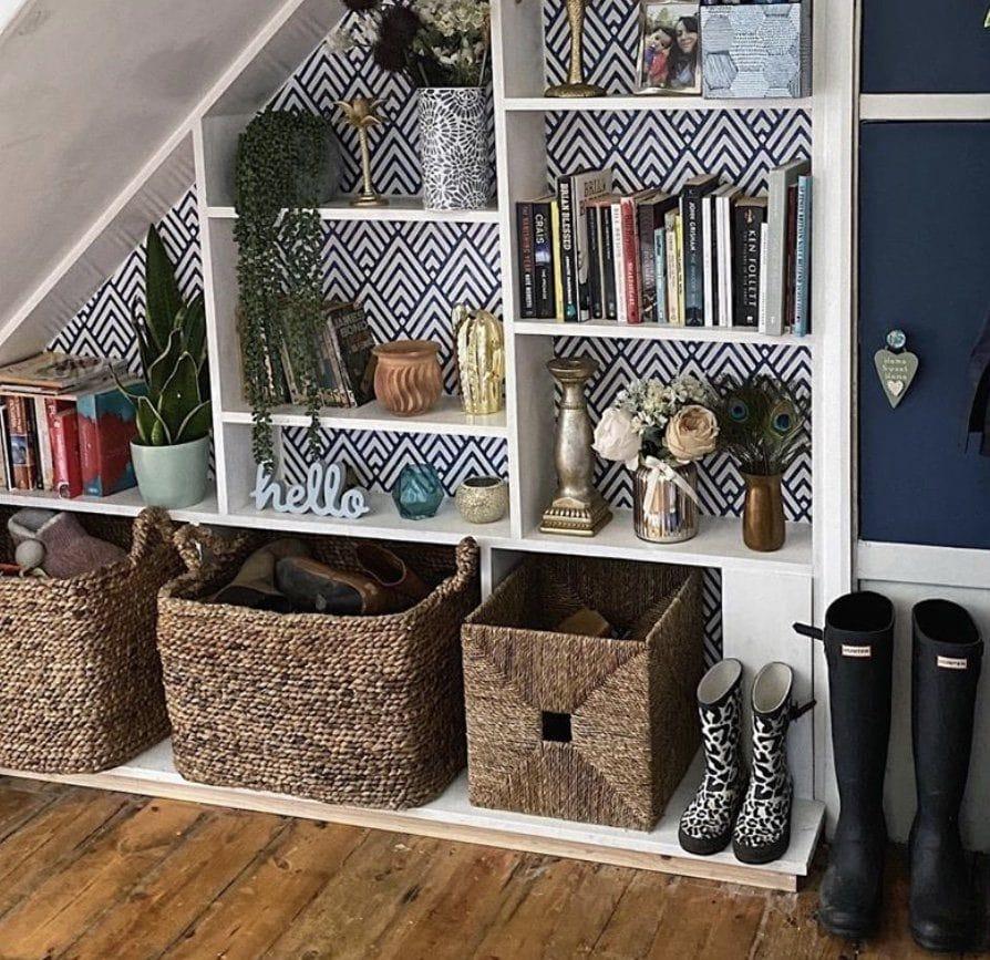 shelf, shelves, bookcase, bookshelf, shelfie, styling, interior styling, homewares, books, interiors, shelf styling, plants, house plants