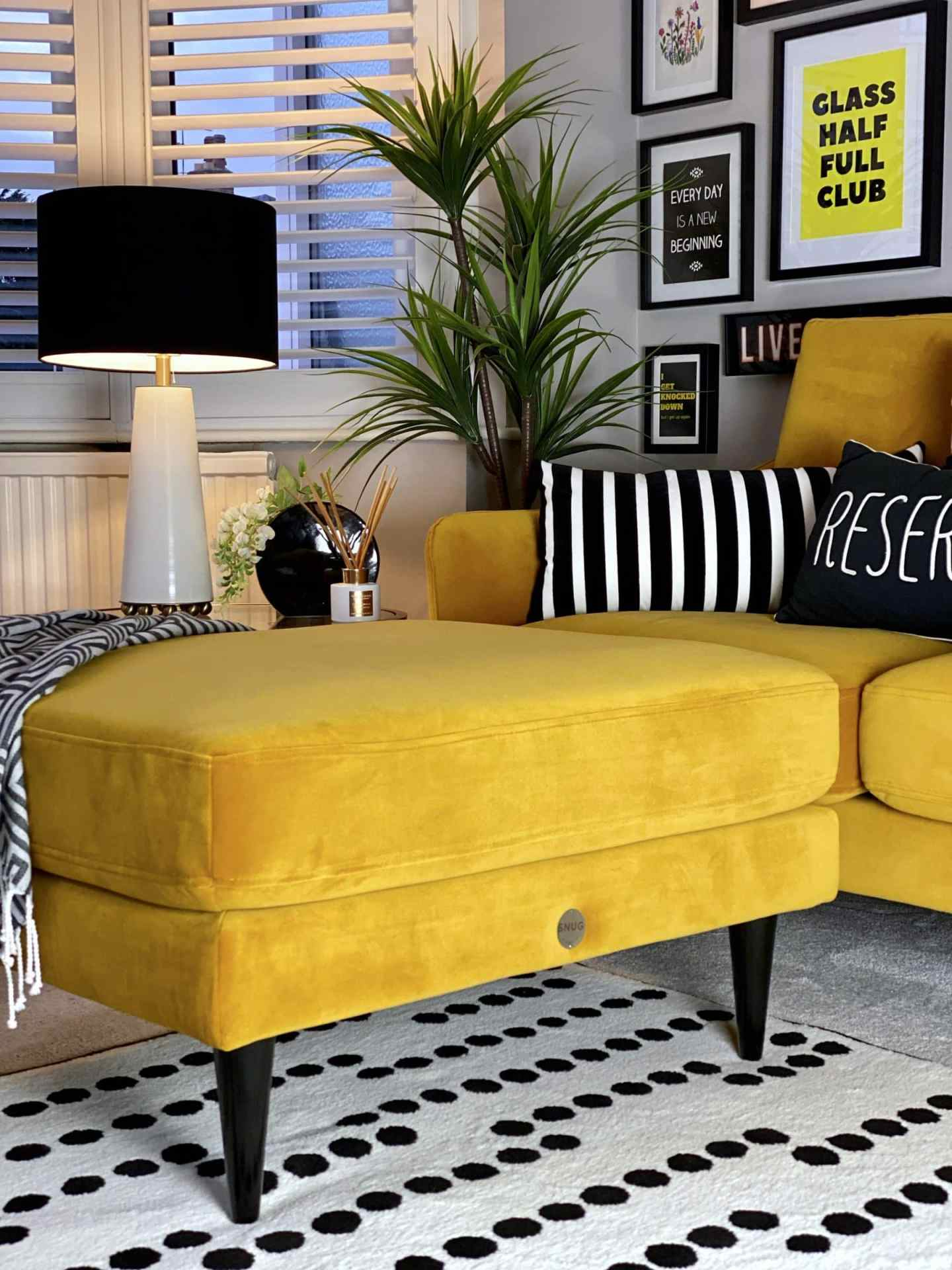 bright yellow foot stool