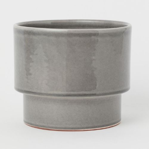 grey ceramic pot