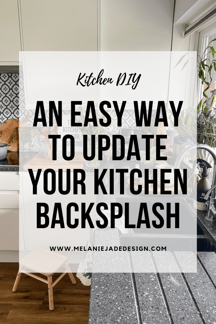 an easy way to update your kitchen backsplash