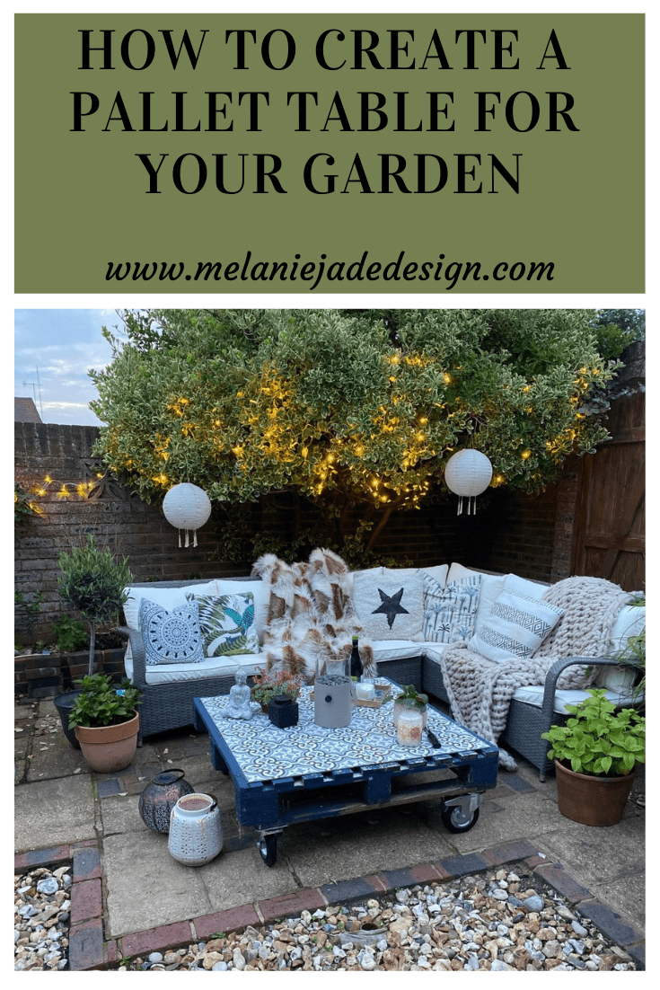how to create a pallet table for your garden
