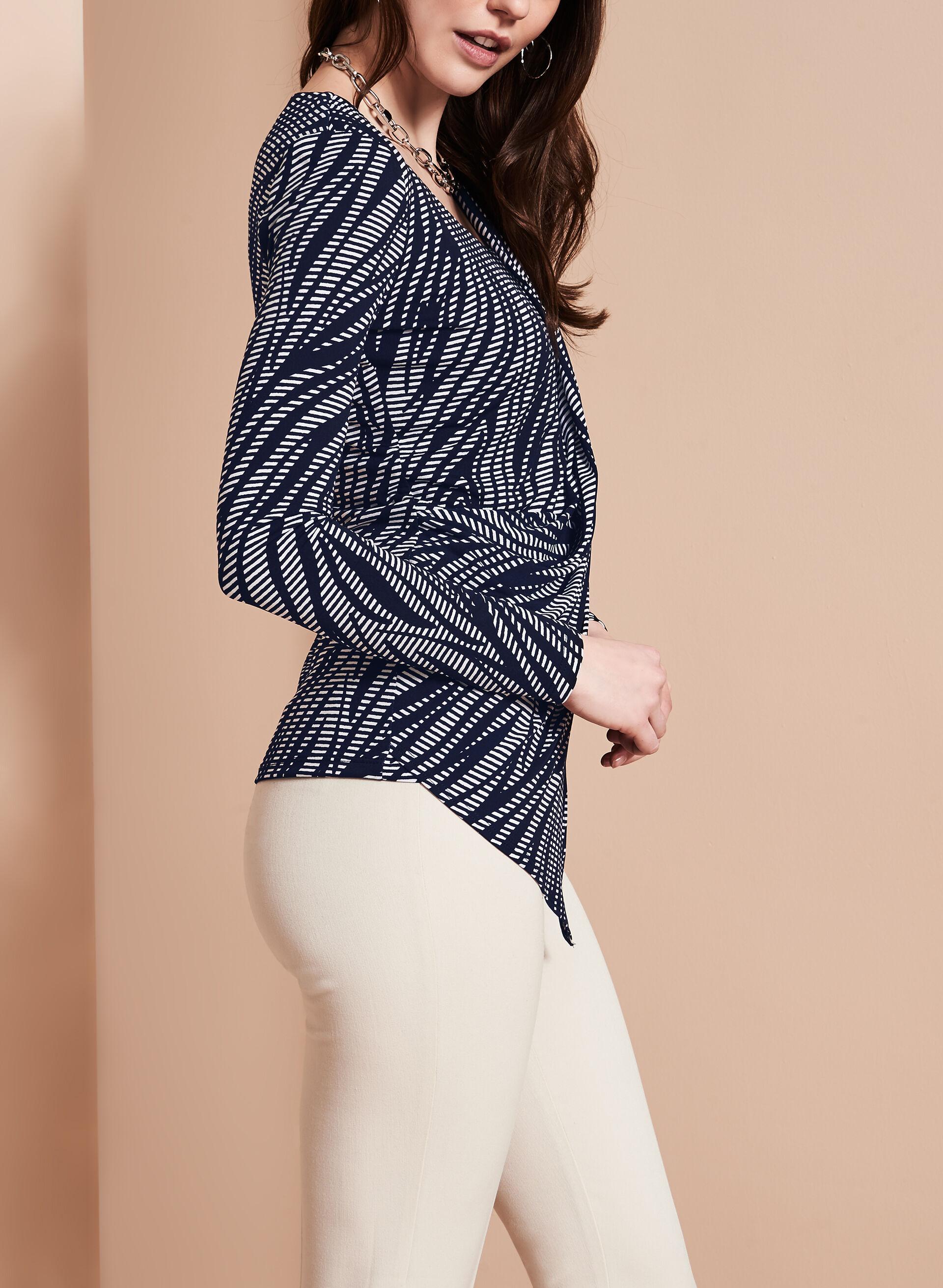 Asymmetric Faux Wrap Top | Melanie Lyne