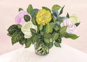 Jolies fleurs - Gouache