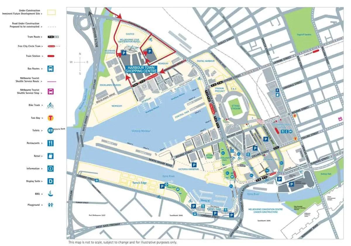 Waterfront City District Docklands DFO Restaurants