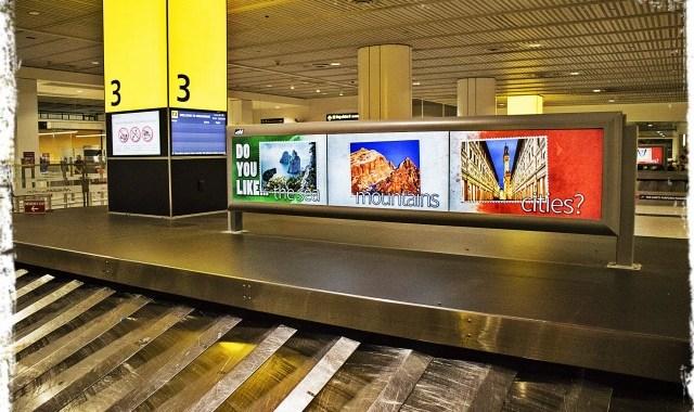 Melbourne. Campagna promozionale del turismo in Aeroporto