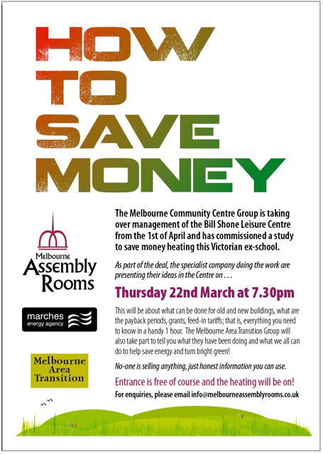 How To Save Energy And Money Thurs 22 March 2012 730pm