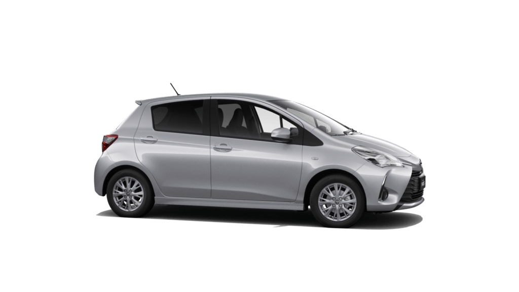 Toyota Yaris Silver 4 Door 2019 Model