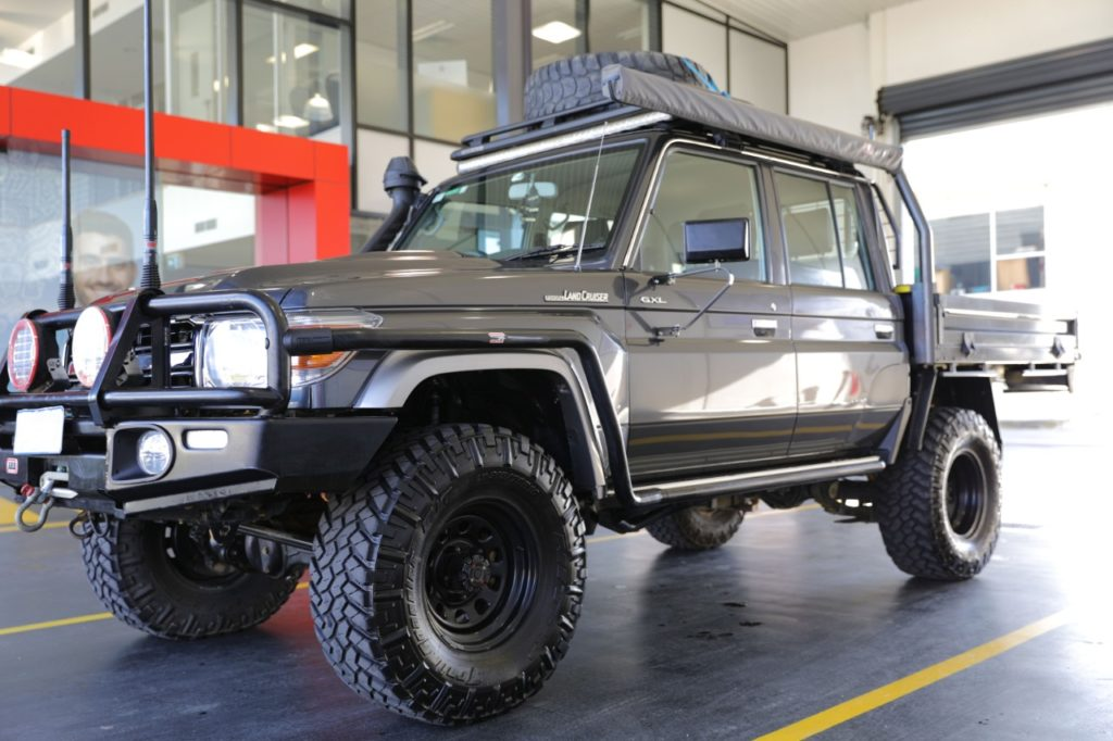Toyota LandCruiser on rent from Race Rental