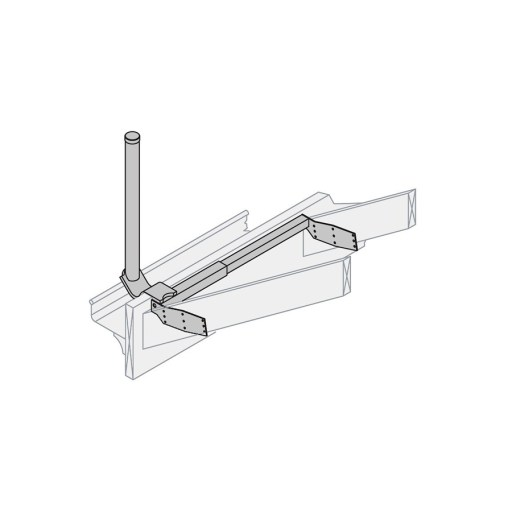 Bracket SAT: Ezy HD 600mm Gutter Mount to suit Offset Antenna 65-90cm