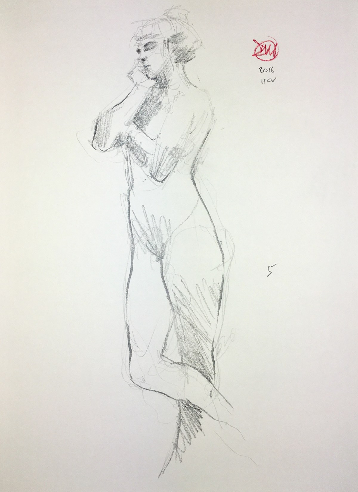Tuesday's life drawing