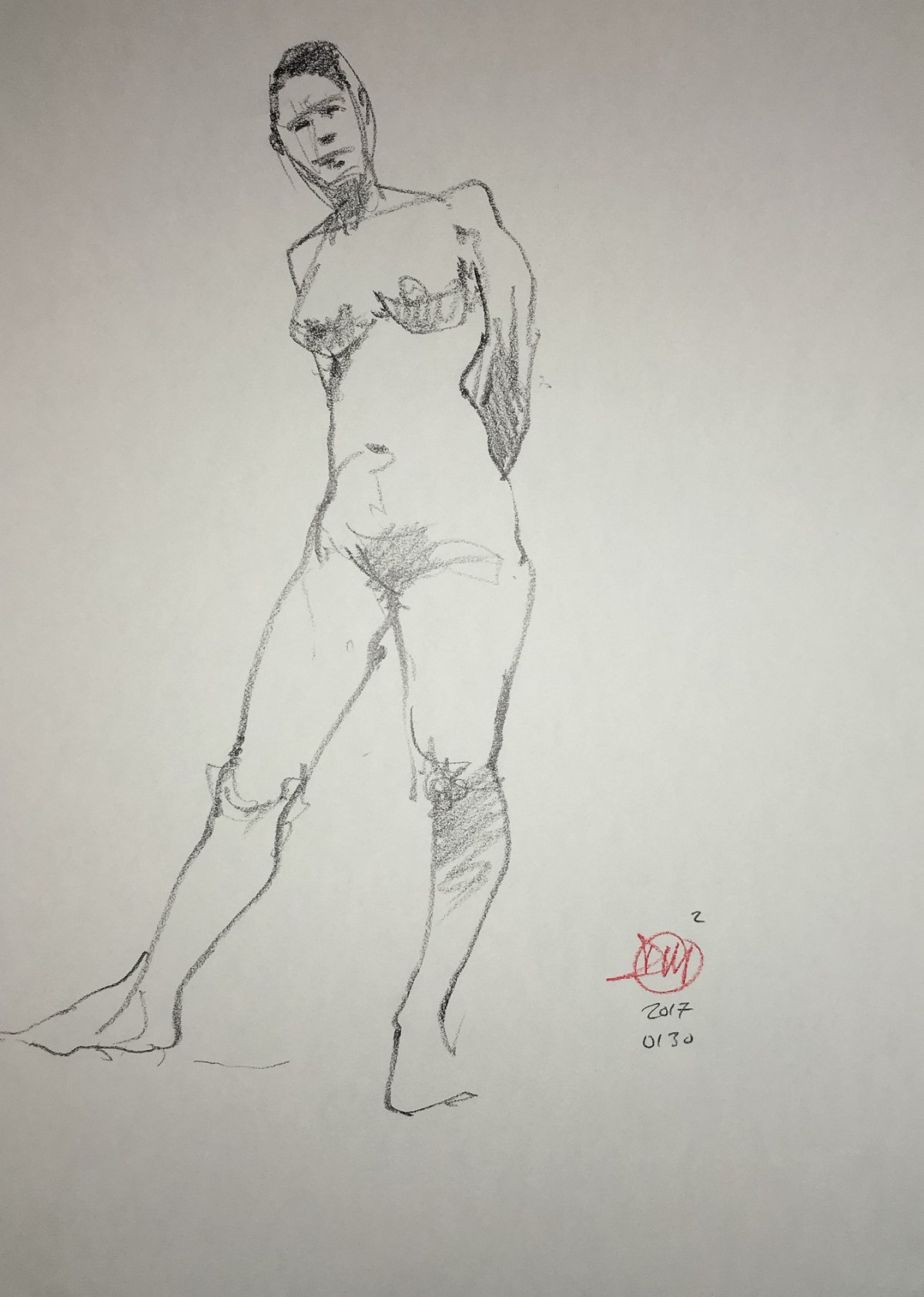 Monday'a life drawing