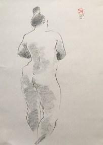 life drawing by David Meldrum