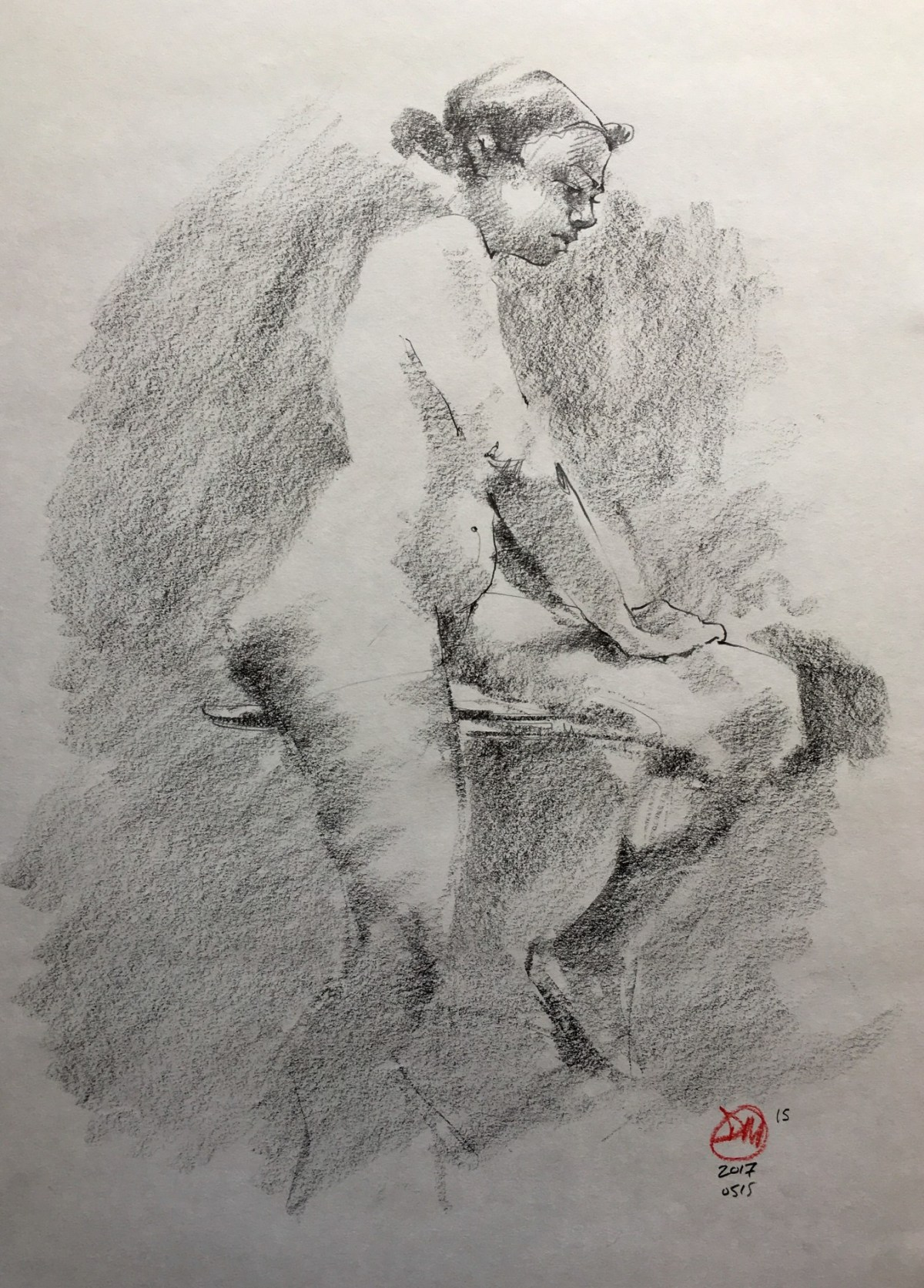 First life drawing for while