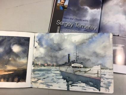 David Meldrum watercolour of Storskär ferry